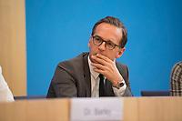 DEU, Deutschland, Germany, Berlin, 27.06.2017: Bundesjustizminister Heiko Maas (SPD) in der Bundespressekonferenz zum Thema Regierungsarbeit der SPD - Bilanz und Ausblick.