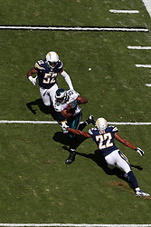 Philadelphia Eagles running back LeSean McCoy #25 is seen carrying the ball from an elevated position during the NFL game between the San Diego Chargers and the Philadelphia Eagles in Philadelphia. The Chargers won 33-30. (Photo by Brian Garfinkel)