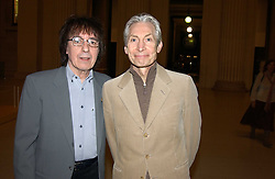 Left to right, BILL WYMAN and CHARLIE WATTS at a party to celebrate the publication of Treasure Islands - Britain's History Uncovered by Bill Wyman and Richard Havers held at The British Museum, London on 21st March 2005.<br /><br />NON EXCLUSIVE - WORLD RIGHTS