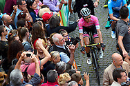 Simon Yates (GBR - Mitchelton - Scott) pink leader jersey during the 101th Tour of Italy, Giro d'Italia 2018, stage 12, Osimo - Imola 213 km on May 17, 2018 in Italy - Photo Dario Belingheri / BettiniPhoto / ProSportsImages / DPPI