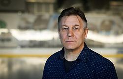 Raimo Summanen, head coach posing after press conference of Ice Hockey cllub HK SZ Olimpija, on March 24, 2021 in Hala Tivoli, Ljubljana, Slovenia. Photo by Vid Ponikvar / Sportida