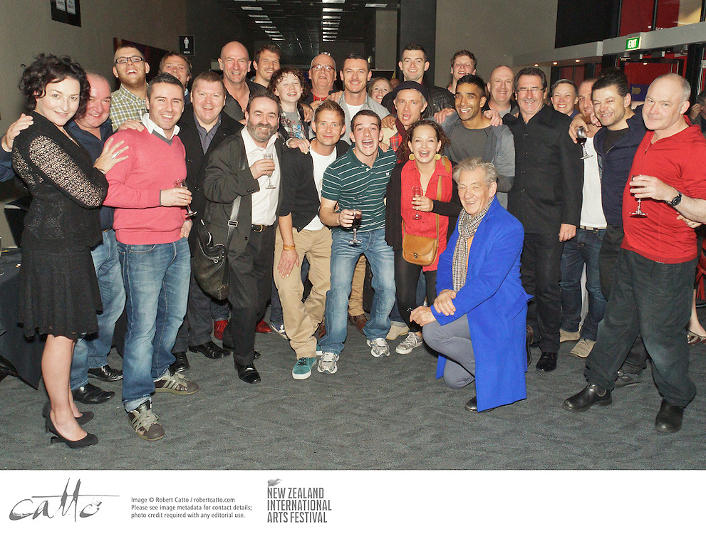 Cast of Frantic Assembly / National Theatre of Scotland's production, Beautiful Burnout, met up with guests from The Hobbit at a function after their opening night at the New Zealand International Arts Festival in Wellington.