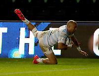 Simon Zebo scores the 3rd Racing 92 Try Dejected Harlequins players after the 3rd Racing 92 Try
