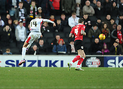 Milton Keynes Dons' Dele Alli Shoots  - Photo mandatory by-line: Joe Meredith/JMP - Mobile: 07966 386802 - 07/02/2015 - SPORT - Football - Milton Keynes - Stadium MK - MK Dons v Bristol City - Sky Bet League One