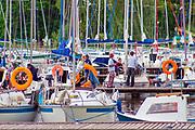 Sztynort, 2004.07.14.  Marina w Sztynorcie, największy port na Mazurach, położony w centrum północnej części Mazur na szlaku Wielkich Jezior w miejscu w którym łączą się jeziora Mamry i Dargin.