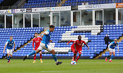 Jonson Clarke-Harris of Peterborough United steps up to score his second goal of the game from the penalty spot - Mandatory by-line: Joe Dent/JMP - 03/10/2020 - FOOTBALL - Weston Homes Stadium - Peterborough, England - Peterborough United v Swindon Town - Sky Bet League One