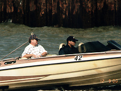 Metropolitan Police photograph of William Cockram and Raymond Betson testing the speedboat that would be used have been used as a get-away craft after the raid on millions of pounds of diamonds at the Millennium Dome November 2000.    * But police were lying in wait to foil the heist, and Cockram, Betson and two others were found guilty by a jury at the Old Bailey in London, of conspiracy to rob. A fifth person was cleared of conspiring to rob but found guilty of conspiracy to steal.