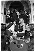The Marquess of Worcester & Lady Liza Campbell. Valentino party. Annabel's. 15/9/87. Film 87766f12<br />© Copyright Photograph by Dafydd Jones<br />66 Stockwell Park Rd. London SW9 0DA<br />Tel 0171 733 0108 www.dafjones.com