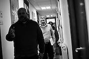 """Il Segretario della Fiom, Maurizio Landini, al termine della prima riunione della 'Coalizione Sociale' formata da rappresentanti di associazioni, movimenti e categorie professionali, Roma 14 Marzo 2015. Christian Mantuano / OneShot<br /> <br /> Maurizio Landini, general secretary of the FIOM, at the end of the first meeting of """"Coalizione sociale"""" (made of associations, movements, occupational groups). Rome, March 16, 2015. Christian Mantuano / One Shot"""