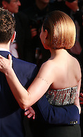 Suzanne Clement with director Xavier Dolan at the Palme d'Or  Closing Awards Ceremony red carpet at the 67th Cannes Film Festival France. Saturday 24th May 2014 in Cannes Film Festival, France.