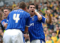 Photo: Ashley Pickering/Sportsbeat Images.<br /> Norwich City v Ipswich Town. Coca Cola Championship. 04/11/2007.<br /> Pablo Counago (R) celebrates his goal and the second for Ipswich