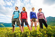 Stock photography shoot for Yukon Tourism, showing summer tourism activities in the North.