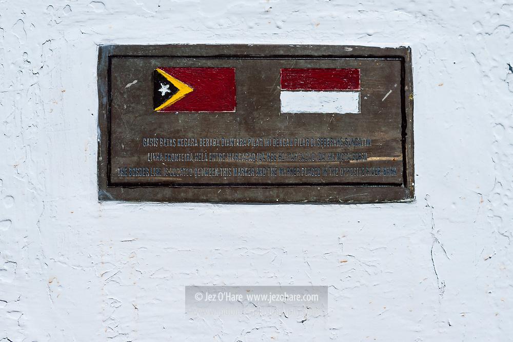 Perbatasan Republic Indonesia dan Timor Leste, Kabupaten Belu, Timor, Nusa Tenggara Timur, Indonesia.
