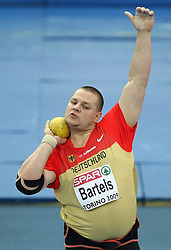 Ralf Bartels of Germany in the Shot Put men Qualification at the 2nd day of  European Athletics Indoor Championships Torino 2009 (6th - 8th March), at Oval Lingotto Stadium,  Torino, Italy, on March 6, 2009. (Photo by Vid Ponikvar / Sportida)