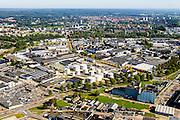 """Nederland, Gelderland, Arnhem, 30-09-2015; Industriepark Kleefse Waard (IPKW), Westerpoortsedijk. """"Vestigingsplaats voor energie-intensieve ondernemingen met oog voor duurzaamheid'. Voorheen AKZO.<br /> Industrieparck for energy intensive industry.<br /> luchtfoto (toeslag op standard tarieven);<br /> aerial photo (additional fee required);<br /> copyright foto/photo Siebe Swart"""