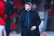 Grant McCann of Doncaster Rover (Manager) watches on during the EFL Sky Bet League 1 match between Doncaster Rovers and Southend United at the Keepmoat Stadium, Doncaster, England on 12 February 2019.