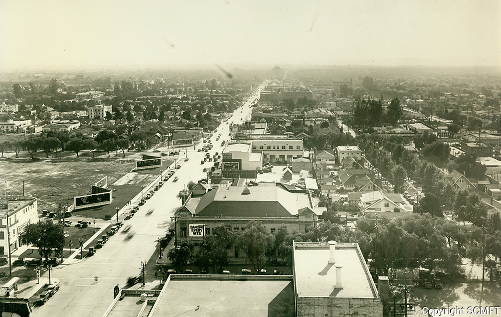 1929 Looking south down Vine St. from Hollywood Blvd.