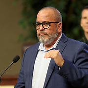 Dr. Raul Pino, Health Officer for the Florida Department of Health in Orange County, speaks during a press conference about the spreading Coronavirus (Covid-19) hotspots in Orange County at the Orange County Administration Center on Friday, April 3, 2020 in Orlando, Florida. (Alex Menendez via AP)