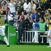 Fenerbahce's Mirosloav STOCH (L) celebrate his goal with team mate during their Turkish superleague soccer match Fenerbahce between IBBSpor at the Sukru Saracaoglu stadium in Istanbul Turkey on Sunday 01 May 2011. Photo by TURKPIX