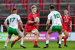 11th November 2018 , Racecourse Ground,  Wrexham, Wales ;  Rugby League World Cup Qualifier,Wales v Ireland ; Dan Fleming of Wales in action<br /> <br /> <br /> Credit:   Craig Thomas/Replay Images