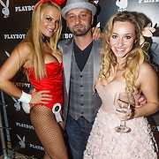 NLD/Amsterdam/20130411 - Bekendmaking Playmate of the Year 2012 NL, playmate, Sidney Brandeis en Zimra Geurts