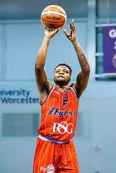 Panos Mayindombe of Bristol Flyers - Mandatory by-line: Robbie Stephenson/JMP - 05/10/2018 - BASKETBALL - University of Worcester Arena - Worcester, England - Bristol Flyers v Worcester Wolves - British Basketball League