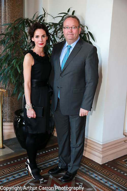 8/4/14 Caroline Sleiman and Andy O'Hara, Hennessy, at the Hennessy Literary Awards at the Westin Hotel in Dublin. Picture:Arthur Carron