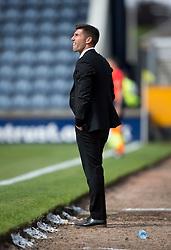 Livingston manager Mark Burchill. <br /> Raith Rovers 3 v 0 Livingston, SPFL Ladbrokes Premiership game played 8/8/2015 at Stark's Park.