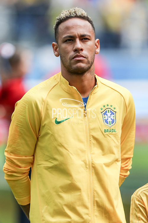 Neymar of Brazil before the 2018 FIFA World Cup Russia, Group E football match between Brazil and Costa Rica on June 22, 2018 at Saint Petersburg Stadium in Saint Petersburg, Russia - Photo Thiago Bernardes / FramePhoto / ProSportsImages / DPPI