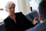 PHOTO PETER PEREIRA/4SEE<br /> ++ International Monetary Fund director Christine Lagarde at her office in Washington DC.