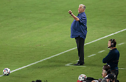 August 12, 2017 - Carson, CA, USA - Carson, CA - Saturday August 12, 2017: Sigi Schmid during a Major League Soccer (MLS) game between the Los Angeles Galaxy and the New York City FC at StubHub Center. (Credit Image: © Michael Janosz/ISIPhotos via ZUMA Wire)
