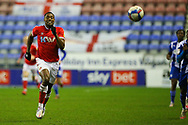 Charlton Athletic midfielder Chuks Aneke (10)  during the EFL Sky Bet League 1 match between Wigan Athletic and Charlton Athletic at the DW Stadium, Wigan, England on 2 March 2021.