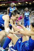 DESCRIZIONE : Basketball Jeux Olympiques Londres Demi finale<br /> GIOCATORE : Dumerc Celine Lawson Edwige<br /> SQUADRA : France  FEMME<br /> EVENTO : Jeux Olympiques<br /> GARA : France Russie<br /> DATA : 09 08 2012<br /> CATEGORIA : Basketball Jeux Olympiques<br /> SPORT : Basketball<br /> AUTORE : JF Molliere <br /> Galleria : France JEUX OLYMPIQUES 2012 Action<br /> Fotonotizia : Jeux Olympiques Londres demi Finale Greenwich Northwest Arena<br /> Predefinita :