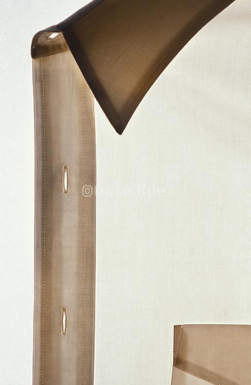 Close up of a transparent white shirt
