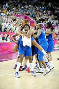 DESCRIZIONE : Basketball Jeux Olympiques Londres Demi finale<br /> GIOCATORE : Gomis Emilie Gruda Sandrine Digbeu Jennifer<br /> SQUADRA : France  FEMME<br /> EVENTO : Jeux Olympiques<br /> GARA : France Russie<br /> DATA : 09 08 2012<br /> CATEGORIA : Basketball Jeux Olympiques<br /> SPORT : Basketball<br /> AUTORE : JF Molliere <br /> Galleria : France JEUX OLYMPIQUES 2012 Action<br /> Fotonotizia : Jeux Olympiques Londres demi Finale Greenwich Northwest Arena<br /> Predefinita :