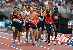 July 22, 2018 - London, United Kingdom - L-R Andrew Hunter of USA and Justus Soget of Kenya                              Compete in the 1500m Men during the Muller Anniversary Games Day One at The London Stadium on July 22, 2018 in London, England. (Credit Image: © Action Foto Sport/NurPhoto via ZUMA Press)
