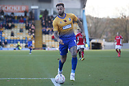 Craig Davies of Mansfield Town (9) attacks into the penalty box during the The FA Cup match between Mansfield Town and Charlton Athletic at the One Call Stadium, Mansfield, England on 11 November 2018.