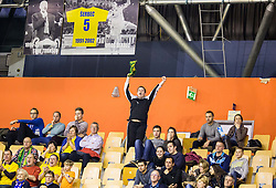 Supporters of Celje PL during handball match between RK Celje Pivovarna Lasko and RK Gorenje Velenje in Eighth Final Round of Slovenian Cup 2015/16, on December 10, 2015 in Arena Zlatorog, Celje, Slovenia. Photo by Vid Ponikvar / Sportida