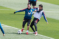 Lucas Vazquez and Dani Parejo during Spain training session a few days before soccer match between Spain and Argentina in Madrid , Spain. March 24, 2018. (ALTERPHOTOS/Borja B.Hojas)