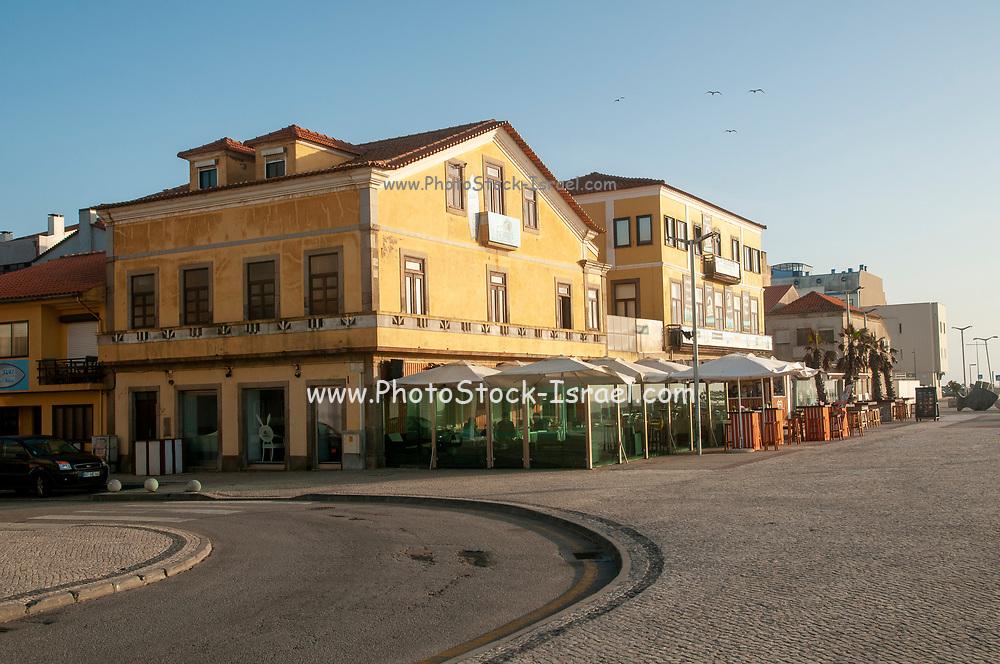 Beach front cafe at Furadouro beach, Ovar, a small municipality on the Atlantic ocean coast, Portugal
