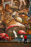 Mushroom mural, Glasgow, Scotland
