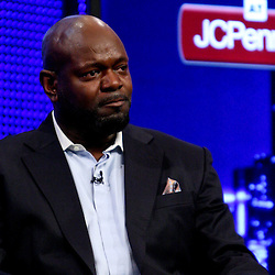 06 February, 2010: An emotional Emmitt Smith on stage after he was announced as one of the newest Enhrinees into the Hall of Fame during a press conference for the Pro Football Hall of Fame Class of 2010 Enshrinees held at the Greater Ft. Lauderdale/Broward County Convention Center in Fort Lauderdale, Florida.
