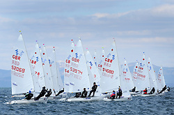 Day 1 of the RYA Youth National Championships 2013 held at Largs Sailing Club, Scotland from the 31st March - 5th April. ..420 Fleet, .For Further Information Contact..Matt Carter.Racing Communications Officer.Royal Yachting Association.M: 07769 505203.E: matt.carter@rya.org.uk ..Image Credit Marc Turner / RYA..