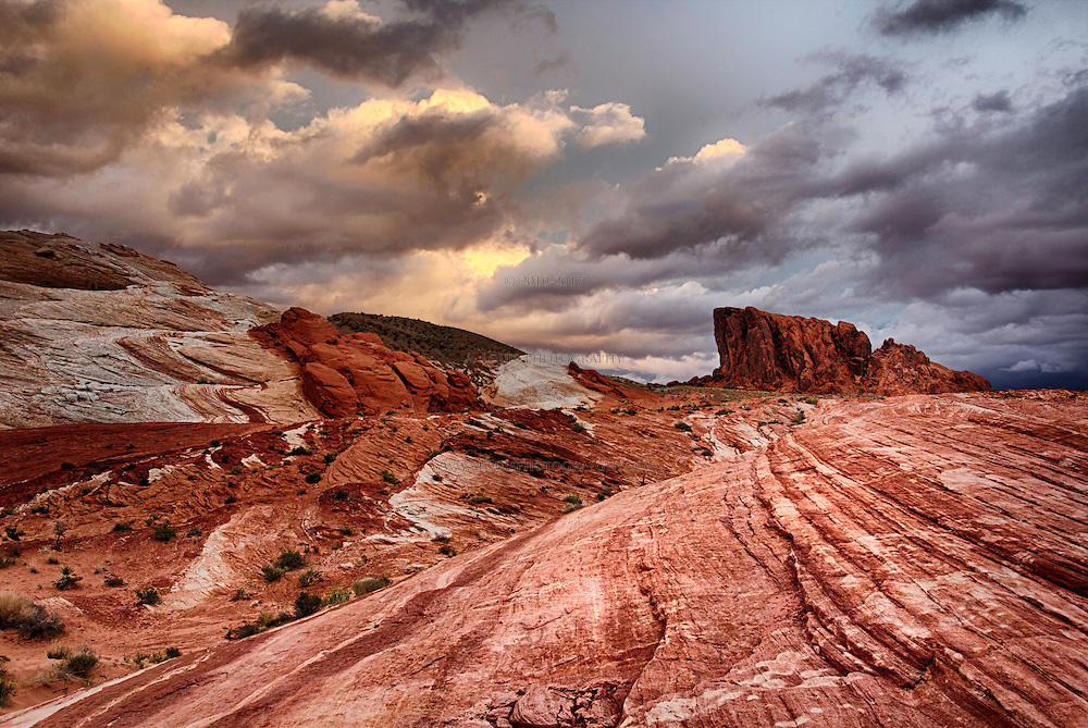 An early morning in the sandstone of The Valley of Fire.