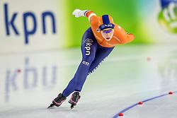 12-11-2017 NED: ISU World Cup, Heerenveen<br /> Antoinette de Jong heeft op de 3.000 meter bij de wereldbeker in Heerenveen zichzelf verrast met de gouden medaille.