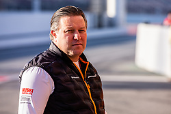 February 18, 2019 - Montmelo, BARCELONA, Spain - Zak Brown Team Chief of Mclaren F1 Team - Renault MCL34 portrait during the Formula 1 2019 Pre-Season Tests at Circuit de Barcelona - Catalunya in Montmelo, Spain on February 18. (Credit Image: © AFP7 via ZUMA Wire)