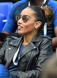Marine Tolisso sister of Corentin Tolisso during the FIFA World Cup 2018 Round of 8 match at the Nizhny Novgorod Stadium Russia, on July 6, 2018. . Photo by Christian Liewig/ABACAPRESS.COM