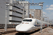 A JR 700 class Shinkansen bullet train at Shin-Yokohama station, Yokohama, Japan. August 14th 2008