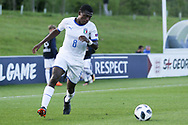 Manu Emmanuel Gyabuaa of Italy (8) during the UEFA European Under 17 Championship 2018 match between Israel and Italy at St George's Park National Football Centre, Burton-Upon-Trent, United Kingdom on 10 May 2018. Picture by Mick Haynes.