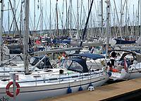 VLIELAND - volle haven van Vlieland. ANP COPYRIGHT KOEN SUYK